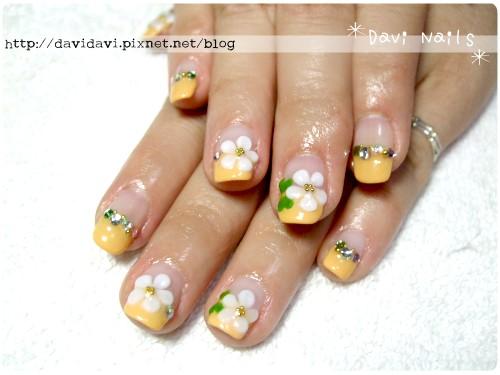 20120516。橘黃色法式x小白花