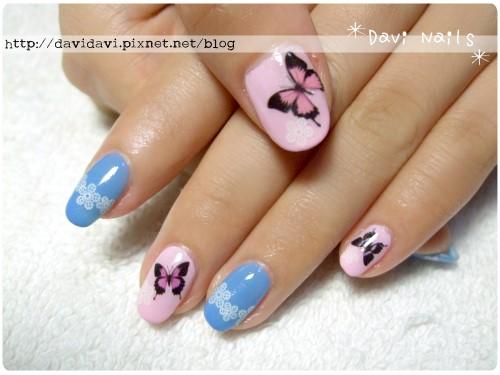 20120524。粉紅蝴蝶蕾絲