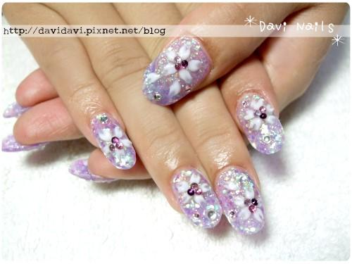 20120515。和風紫色櫻花
