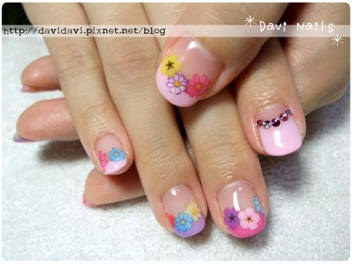 20120726。繽紛小花x粉紫法式