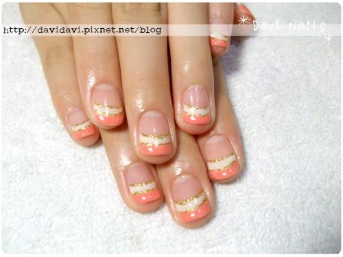 20120728。甜美可愛雙色法式