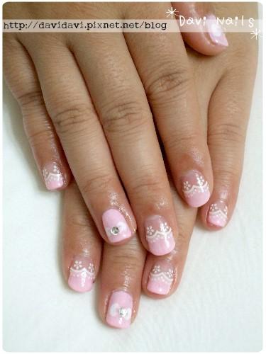 20101119。粉色蕾絲蝴蝶結