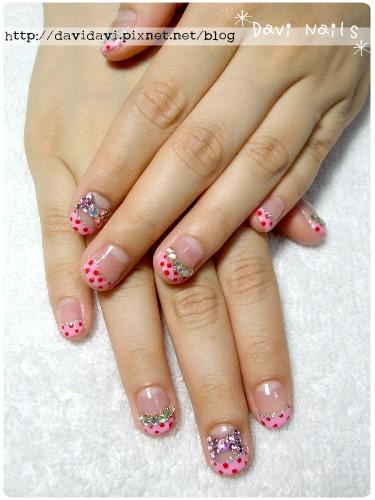20110522。粉紅水玉蝴蝶結