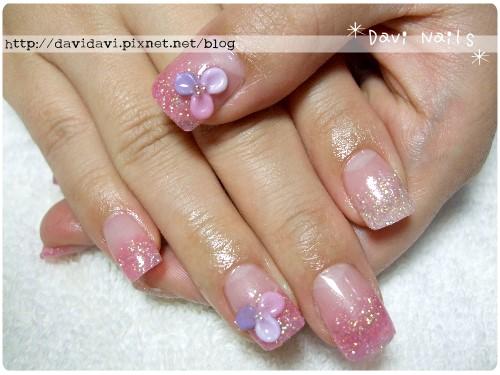20101130。粉色璀璨搭紫色系小花