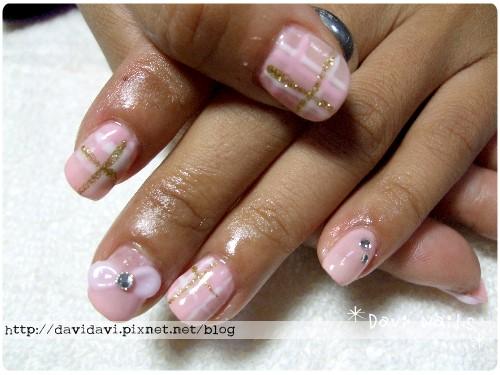 20101208。粉色淑女格紋