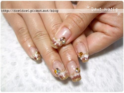 20110428。金色系華麗孔雀紋