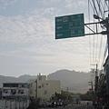 前方129縣道將左轉