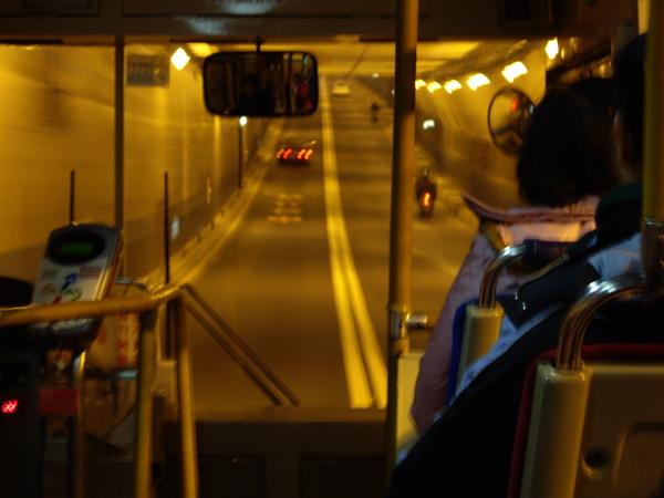 搭乘286公車過復北地下道