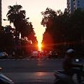 太陽快下山了