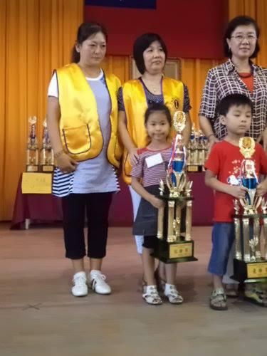 幼稚園 B 組 冠軍 : 鄭珮廷 ( 學棋 10 個月 )