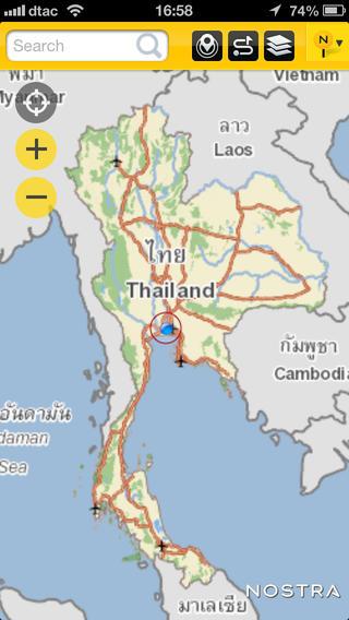 NOSTRA Map Thailand APP