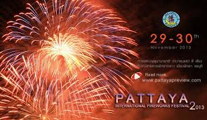 PATTAYA INTERNATIONAL FIRWORKS FESTIVAL 2013