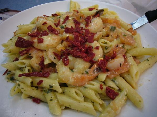 紐約第一餐:美國人size的義大利麵