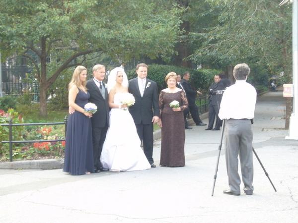 剛好遇到新人拍結婚照