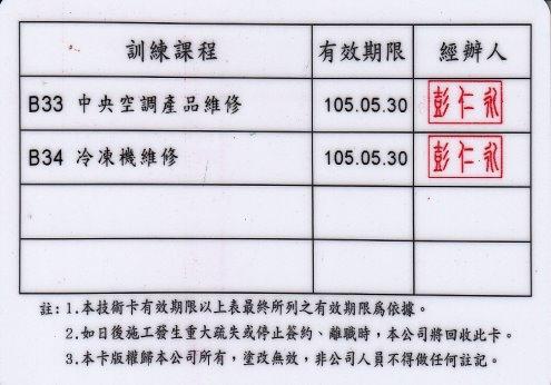 楊慶榮日立技術卡反2