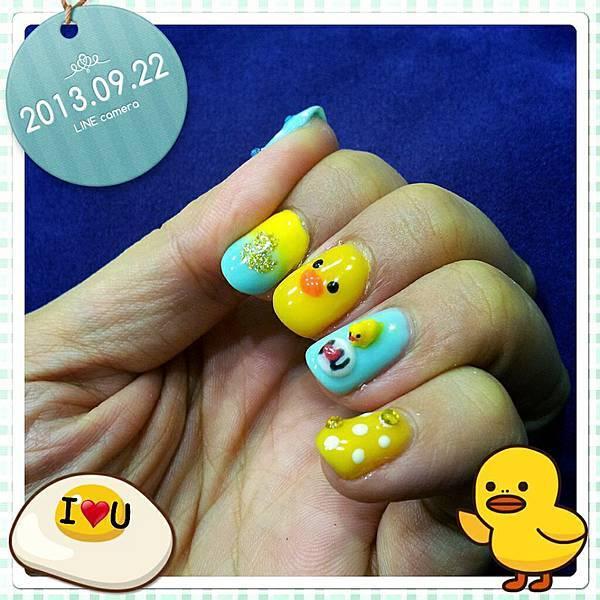 黃色小鴨《光療指甲》