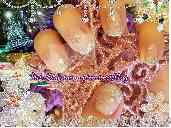 聖誕璀燦光療指甲痞《光療指甲》