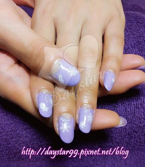 紫色迷情聖誕光療指甲
