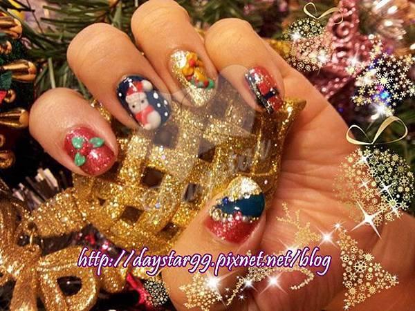 聖誕節光療指甲