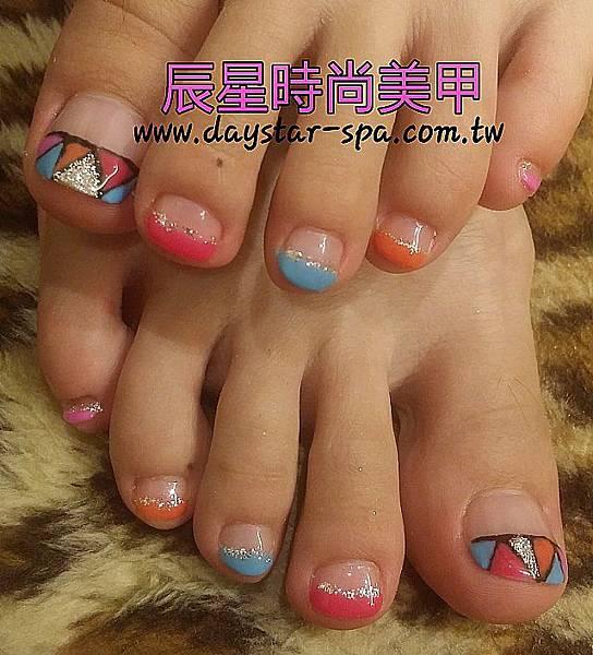 足部光療指甲