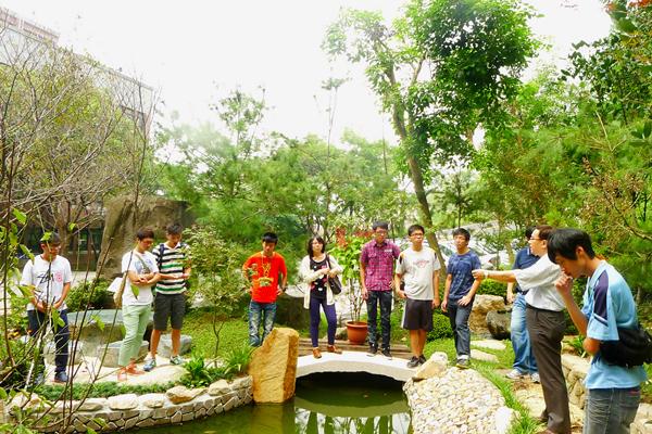 大葉大學將地下湧泉導入景觀花園,並開放供高中職學生到校觀摩.png