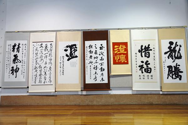 鹿江詩書畫學會「妙在用筆」聯展 貼近漢字變化感受文化薰陶2.png