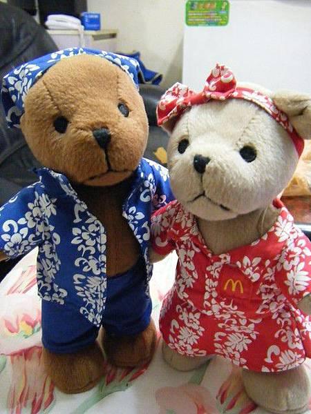 超可愛情侶小熊