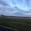 抵達戴高樂機場的飛機坪