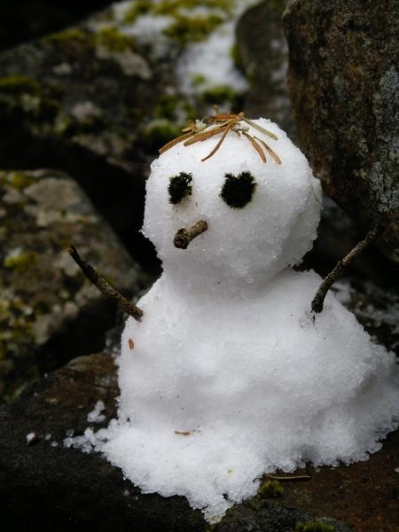 堆了一個小雪人