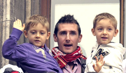 miroslav klose and his boys