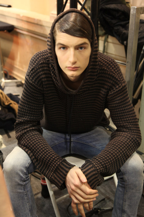 Kaan Tilki at Z Zegna FW12 backstage