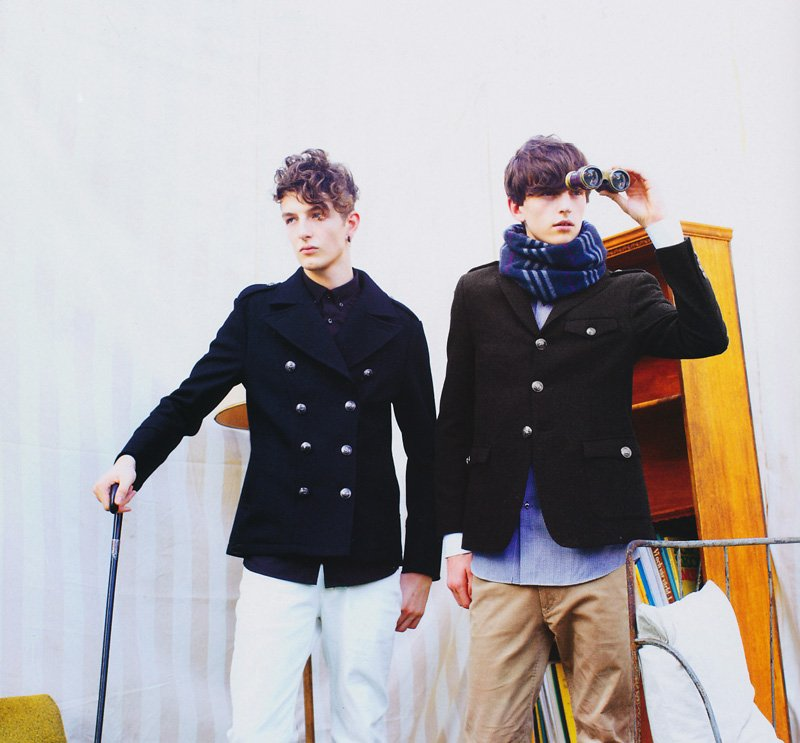Alex Dunstan & Kaan Tilki by Tokumaru Junichiro in Burberry Black Label for Fudge Magazine