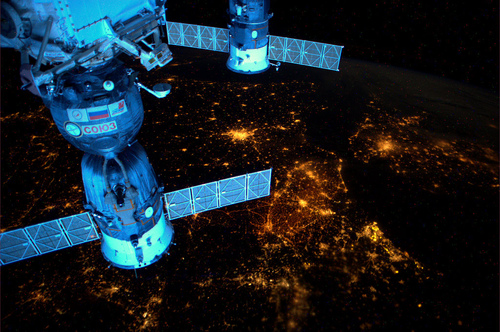 ISS Over Europe
