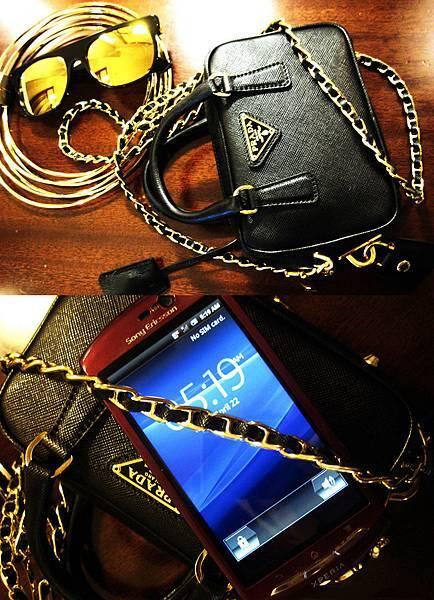"""買了人生中最小的手提包,小到只夠把他的小红""""MT15i""""放進去!"""