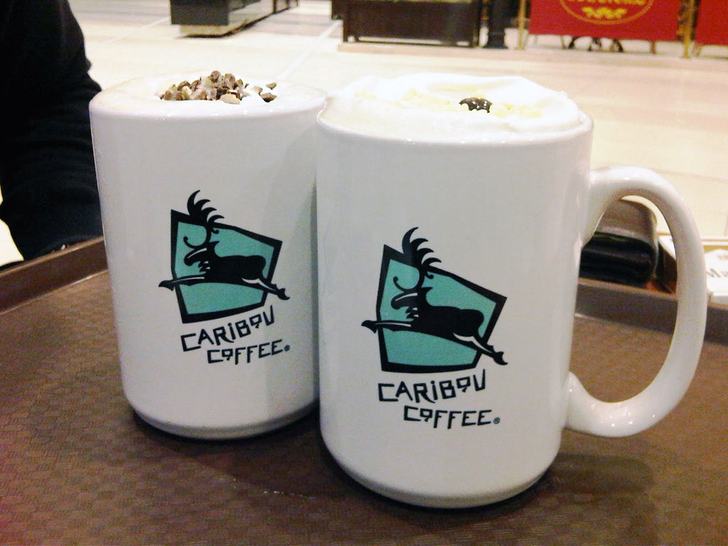 CaribouCoffee-Avenues-BNDQ8-Kuwait-white chocolate mocha-mint condition.jpg