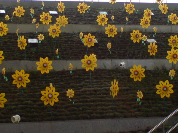 中央公園出口的裝飾