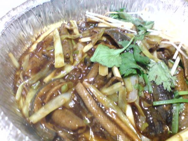 炒鱔糊 - 韭黃