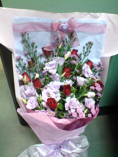 盈盈送的花