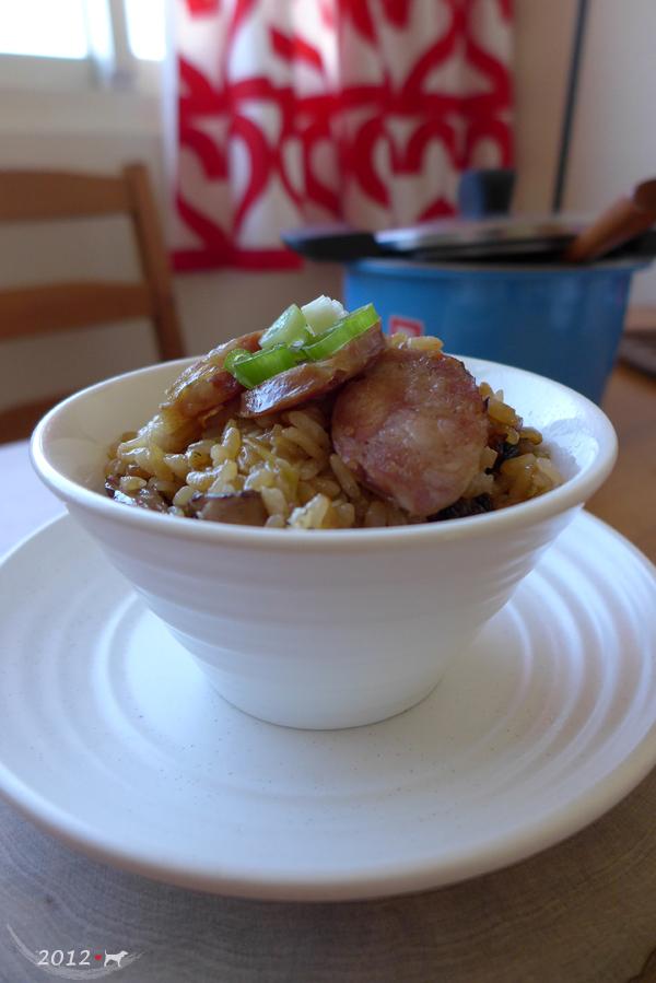 20121021-高麗菜香腸炊飯-01