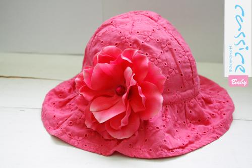 粉紅花花洞洞遮陽花帽 NT480