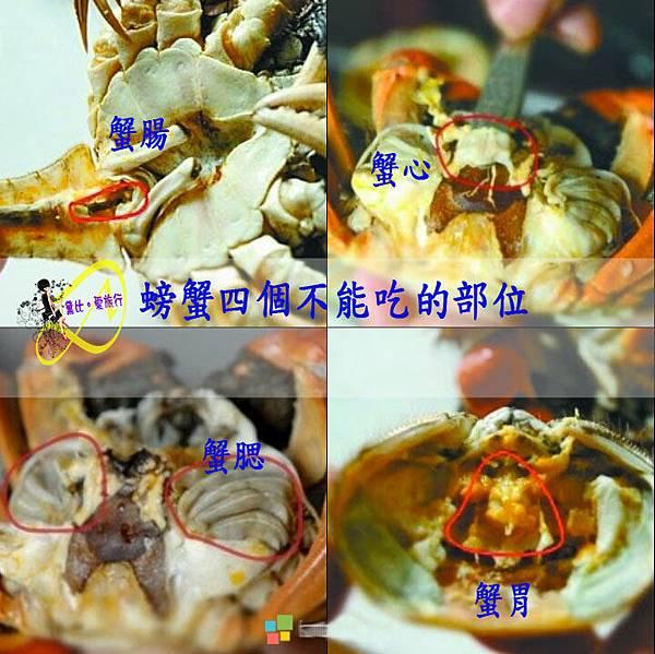 螃蟹~4個不能吃的部位