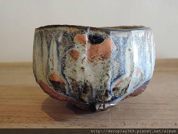 彩色灰釉茶碗