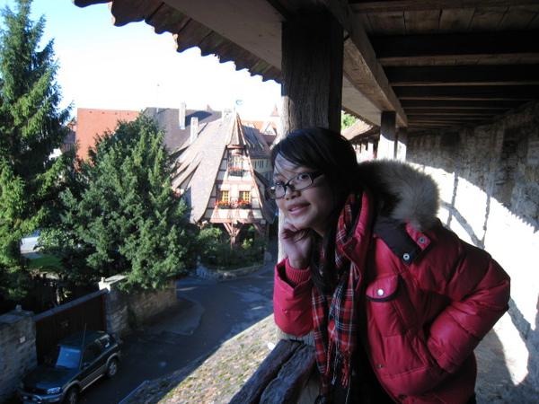 我與羅騰堡老城牆