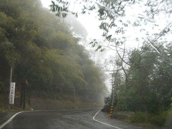 從三義開去大湖的路上,大霧