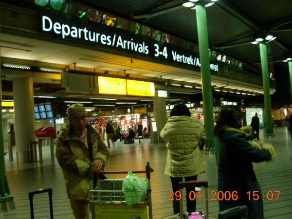 荷蘭機場一角