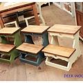#310008-4/3 $2800 兩層雙色取書椅