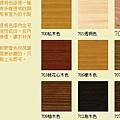 室內外用面漆~透明型塗刷後可見木紋-色號900~927