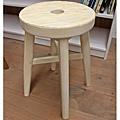 #310012 $1250 高腳圓凳-復古白