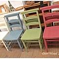 #310014~17 $3600/張 美式教堂椅