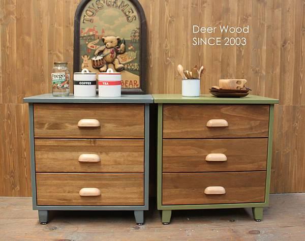 三抽矮櫃 復古藍#302061-2 / 綠竹色#302061-1